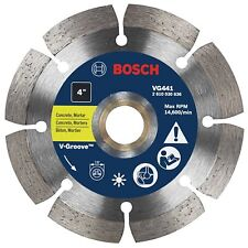 VG441 Segmented Rim V-Groove Diamond Blade for Universal Rough Cuts - 4 inch