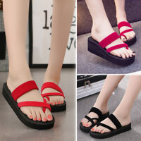2018 Womens' Summer Flip Flops Casual Slippers Flat Sandals Beach Open Toe Shoes