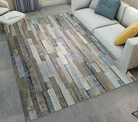 Rug Rustic Retro Wood Board Area Rugs Living Room Floor Mat Bedroom Carpet Decor
