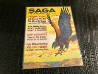 NOV 1961 SAGA vintage MENS ADVENTURE magazine KILLER HAWK