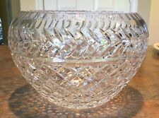 "Crystal Cut Glass Bowl, 8-3/4"" - Very Heavy - Signed Baccarat - Beautiful!!"