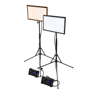 SkyFiller 1x2 70w BiColor LED Light, 2x Lighting Kit with Stands and Case