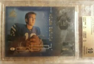 1998 SP Authentic Peyton Manning ROOKIE RC /2000 #14 BGS 10 PRISTINE