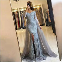Gorgeous Appliques Beaded Mermaid Celebrity Evening Dress Prom Party Formal Gown