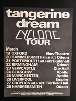 "TANGERINE DREAM CYCLONE UK TOUR 12"" x 16"" FULL PAGE MAGAZINE ADVERT 1978 POSTER"