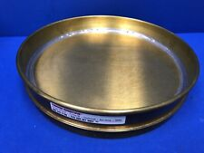 "12"" BRASS RECEIVING PAN with SKIRT/RIM FOR NESTING 12"" SIEVES"