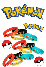 10pcs Pokemon - pikachu  Silicone Wristband Bracelet Party Bag Fillers Gift UK