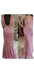 jovani Pink Maxi Evening Gown . Size 8