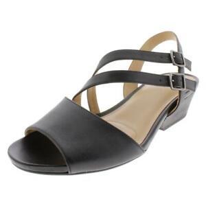 Naturalizer Womens Gigi Black Slingback Sandals Shoes 8.5 Medium (B,M) BHFO 6967