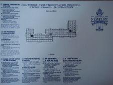 Plan original Hotel Disney Newport Bay Club - 3 ABC - DISNEYLAND Paris NEUF
