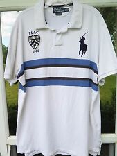 Polo Ralph Lauren Embroidered Big Pony Striped Custom Fit Rugby Shirt #7 XXL 2XL