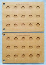 RAYMOND POPULAR COIN ALBUM PAGES FOR DIMES - UNPRINTED