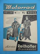 Fachzeitschrift MOTORRAD ROLLER MOPED 18 -1957 Puch 250 SGS Teil 2