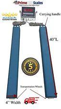 "40"" Bar Scale 5,000 lb Livestock Scale Preifert Chute Weigh Bars Cattle Scale"