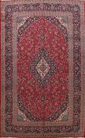 Vintage Traditional Floral Hand-Knotted Area Rug Wool Oriental Carpet 10x13 ft
