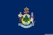 MAINE USA STATE 5x3 feet FLAG 150cm x 90cm flags UNITED STATES OF AMERICA