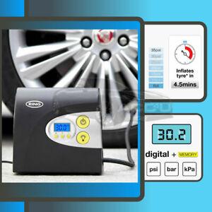 Ring RAC601 12v Preset Digital Auto Stop Car Tyre Air Compressor Inflator Pump
