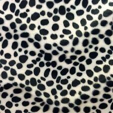 "Black White Dalmatian Dog Velboa Faux Fur Fabric - Sold By The Yard - 58""/ 60"""