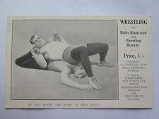 Postcard Wrestling Holds Illustrated & Wrestling Records Melbourne Australia