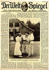 Der Kronprinz beim Tennisturnier der Zoppoter Sportwoche Titelblatt von 1913