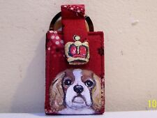 Cavalier King  Charles Spaniel hand painted Vera Bradley Photo album Key Chain