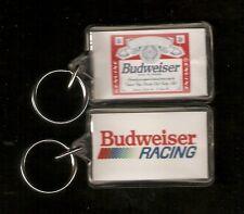 Budweiser Racing Plastic Key Ring
