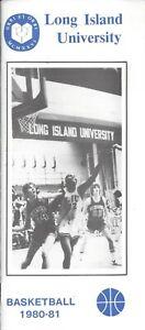 1980-81 Long Island Blackbirds Basketball Media Guide HC Paul Lizzo