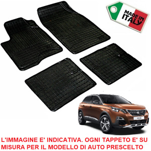 TAPPETI TAPPETINI su Misura PEUGEOT 3008 SET COMPLETO in GOMMA *Made in Italy*
