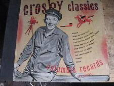 "Bing Crosby, Columbia set #M-555.  Crosby Classics,78 rpm,5x10"",VG+."