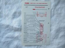 Ford 2000  tractor lubrication guide chart