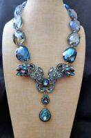 "Heidi Daus ""Unbreakable Bond"" Crystal Drop  Elephant Necklace NWT Retail $360"