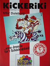 Programm 1995/96 SC Fortuna Köln - MSV Duisburg