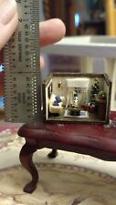 "Gorgeous 1:144 Brenda Greeson Miniature Christmas Room used as 1"" scale room box"