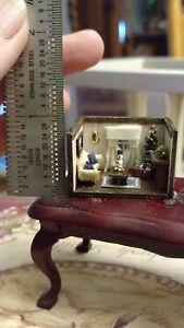 "Gorgeous 1:144Brenda GreesonMiniature Christmas Room used as 1"" scale room box"