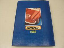 1988 MATCHBOX CATALOG PORSCHE MINIATURES CARS TRUCKS SUPERKINGS YESTERYEAR