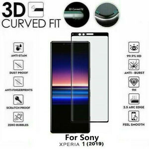 For Sony Xperia 1 5 10 Genuine Full 3D Tempered Glass 9H Screen Protector Cover