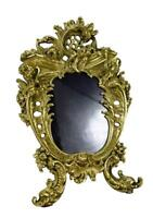 Antique French Large Rococo Ormolu Bronze Photo Picture Frame