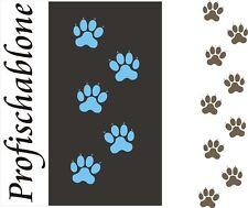 Dekorschablone, Wandschablone, Schablone, Malerschablone, Kindermotiv -Hundespur