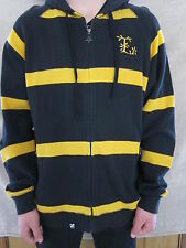 LIFTED RESEARCH GROUP LRG Black & Yellow Zipper Hoodie Shirt Mens XLARGE NWT