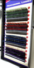 SILK TWO TONE COLOR  LASH MIX Tray J Curl.15  Size13mm, Green, Red, Blue, purple