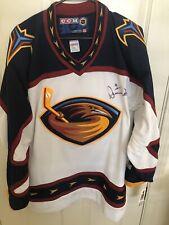 Atlanta Thrashers Ccm Nhl Hockey Damian Rhodes Autographed Jersey Winnipeg Jets