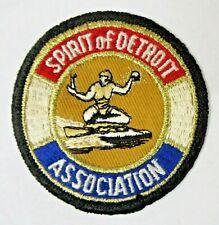 older SPIRIT OF DETROIT ASSOCIATION hydroplane boat jacket uniform shirt patch