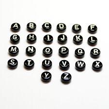 Buchstabenperlen sortiert Schwarz Kunststoff 7x4 mm Acryl Buchstaben Preishammer