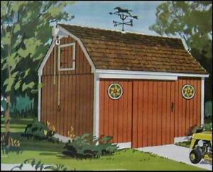 Pennsylvania Dutch Barn Tool Shed 8x12 How-To build PLANS