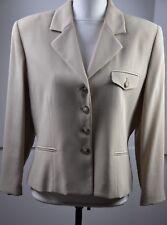 Burberrys Women's Cropped Blazer Size 12 USA Wool Blend Careeer 4 Button Cute