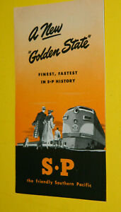 Southern Pacific A  New Golden State Brochure