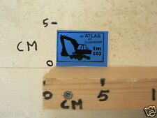STICKER,DECAL DE ATLAS UIT OLDENDORP PIRATENZENDER ? FM 101 GRAAFMACHINE BLAUW