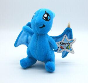 "Neopets McDonald's Blue Shoyru plush toy figure stuffed doll happy meal prize 4"""