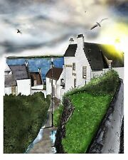 Original Art: Architecture in Dysart, Fife, Scotland: A3 Premium Silk Paper