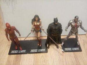 Justice league statues. Batman flash wonder woman  cyborg beautiful condition